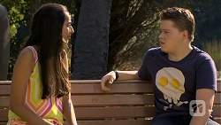 Rani Kapoor, Callum Jones in Neighbours Episode 6677