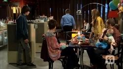 Bailey Turner, Susan Kennedy, Callum Jones, Sonya Mitchell, Toadie Rebecchi, Nell Rebecchi in Neighbours Episode 6706