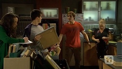 Kate Ramsay, Chris Pappas, Kyle Canning, Sheila Canning in Neighbours Episode 6707