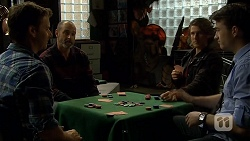 Lucas Fitzgerald, Graeme Francis, Robbo Slade, Stu Branson in Neighbours Episode 6707