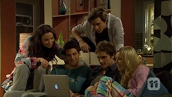 Kate Ramsay, Chris Pappas, Mason Turner, Kyle Canning, Georgia Brooks in Neighbours Episode 6708