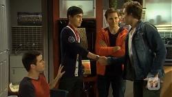 Chris Pappas, Hudson Walsh, Josh Willis, Mason Turner in Neighbours Episode 6712