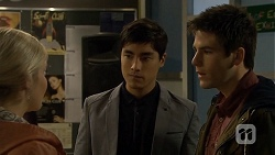 Amber Turner, Hudson Walsh, Chris Pappas in Neighbours Episode 6712