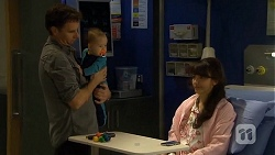 Lucas Fitzgerald, Patrick Villante, Vanessa Villante in Neighbours Episode 6714