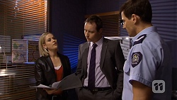 Ellen Crabb, Det. David Oakley, Matt Turner in Neighbours Episode 6718