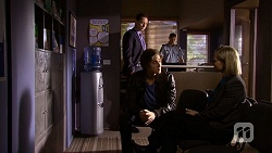 Det. David Oakley, Mason Turner, Matt Turner, Ellen Crabb in Neighbours Episode 6718