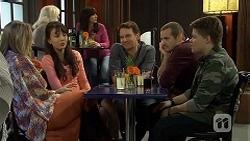 Sonya Mitchell, Vanessa Villante, Lucas Fitzgerald, Toadie Rebecchi, Callum Jones in Neighbours Episode 6721