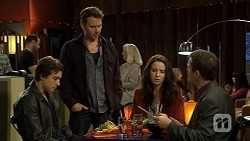 Mason Turner, Lucas Fitzgerald, Kate Ramsay, Paul Robinson in Neighbours Episode 6723