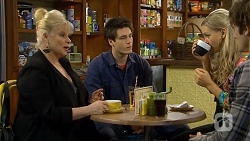 Sheila Canning, Chris Pappas, Georgia Brooks, Kyle Canning in Neighbours Episode 6729