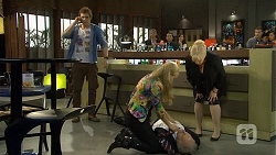 Kyle Canning, Georgia Brooks, Jack Lassiter, Sheila Canning in Neighbours Episode 6729