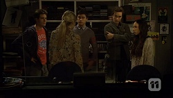 Chris Pappas, Amber Turner, Hudson Walsh, Mason Turner, Imogen Willis in Neighbours Episode 6730