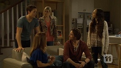 Josh Willis, Terese Willis, Amber Turner, Brad Willis, Imogen Willis in Neighbours Episode 6730