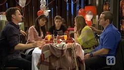 Lucas Fitzgerald, Vanessa Villante, Callum Jones, Sonya Mitchell, Toadie Rebecchi in Neighbours Episode 6732