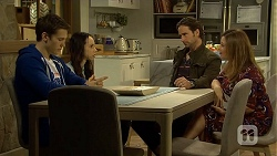 Josh Willis, Imogen Willis, Brad Willis, Terese Willis in Neighbours Episode 6734