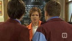 Bailey Turner, Susan Kennedy, Callum Jones in Neighbours Episode 6735