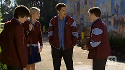 Bailey Turner, Amber Turner, Josh Willis, Callum Rebecchi in Neighbours Episode 6735