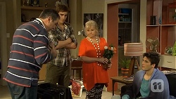 Karl Kennedy, Kyle Canning, Sheila Canning, Chris Pappas in Neighbours Episode 6739