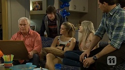 Lou Carpenter, Bailey Turner, Louise Carpenter (Lolly), Amber Turner, Matt Turner in Neighbours Episode 6745