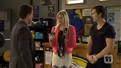Zac Mangold, Amber Turner, Josh Willis in Neighbours Episode 6758