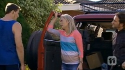Matt Turner, Lauren Turner, Brad Willis in Neighbours Episode 6758