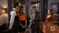Mason Turner, Rhiannon Bates, Paul Robinson, Terese Willis in Neighbours Episode 6759