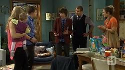 Georgia Brooks, Nell Rebecchi, Callum Rebecchi, Bailey Turner, Toadie Rebecchi, Sonya Rebecchi in Neighbours Episode 6760