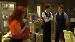 Rhiannon Bates, Jackson Bates, Mason Turner, Chris Pappas in Neighbours Episode 6760