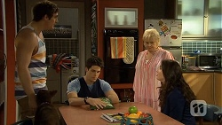 Kyle Canning, Chris Pappas, Sheila Canning, Kate Ramsay in Neighbours Episode 6761