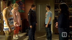 Kyle Canning, Sheila Canning, Matt Turner, Chris Pappas, Kate Ramsay in Neighbours Episode 6761