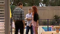 Matt Turner, Mason Turner, Rhiannon Bates in Neighbours Episode 6770