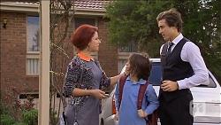 Rhiannon Bates, Jackson Bates, Mason Turner in Neighbours Episode 6777