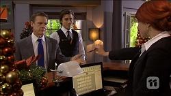 Paul Robinson, Mason Turner, Rhiannon Bates in Neighbours Episode 6777