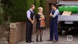Toadie Rebecchi, Sheila Canning, Chris Pappas in Neighbours Episode 6780