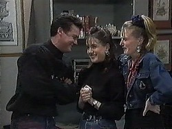 Paul Robinson, Christina Alessi, Melanie Pearson in Neighbours Episode 1268