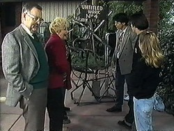 Harold Bishop, Madge Bishop, Joe Mangel, Matt Robinson, Gemma Ramsay in Neighbours Episode 1269