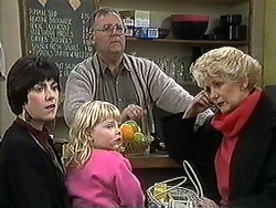 Kerry Bishop, Sky Bishop, Harold Bishop, Madge Bishop in Neighbours Episode 1269