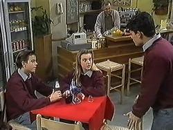 Todd Landers, Melissa Jarrett, Harold Bishop, Josh Anderson in Neighbours Episode 1270