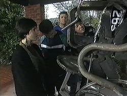 Kerry Bishop, Paul Robinson, Des Clarke, Joe Mangel in Neighbours Episode 1270