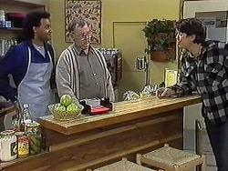 Eddie Buckingham, Harold Bishop, Joe Mangel in Neighbours Episode 1270