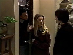 Josh Anderson, Melissa Jarrett, Kerry Bishop in Neighbours Episode 1271