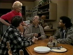 Joe Mangel, Madge Bishop, Harold Bishop, Eddie Buckingham in Neighbours Episode 1271