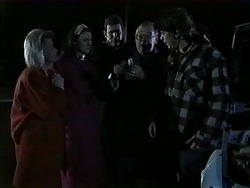 Helen Daniels, Dorothy Burke, Des Clarke, Harold Bishop, Joe Mangel in Neighbours Episode 1271
