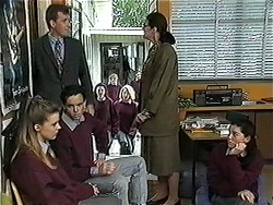 Melissa Jarrett, Mr. Denning, Student, Dorothy Burke in Neighbours Episode 1272