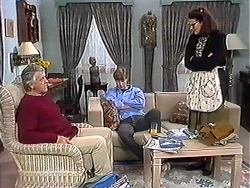 Clarrie McLachlan, Ryan McLachlan, Dorothy Burke in Neighbours Episode 1273