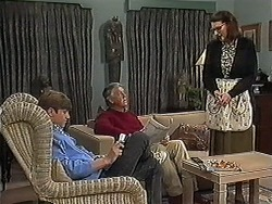 Ryan McLachlan, Clarrie McLachlan, Dorothy Burke in Neighbours Episode 1273