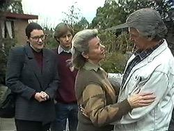 Dorothy Burke, Ryan McLachlan, Helen Daniels, Clarrie McLachlan in Neighbours Episode 1273