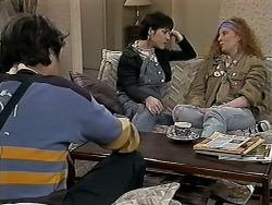 Joe Mangel, Kerry Bishop, Amber Martin in Neighbours Episode 1274