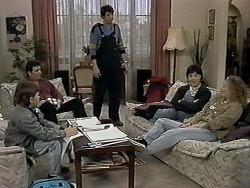 Toby Mangel, Des Clarke, Joe Mangel, Kerry Bishop, Amber Martin in Neighbours Episode 1274
