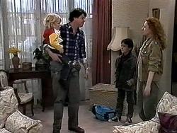 Sky Bishop, Joe Mangel, Toby Mangel, Amber Martin in Neighbours Episode 1277