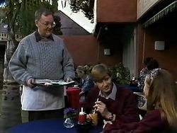 Harold Bishop, Ryan McLachlan, Gemma Ramsay in Neighbours Episode 1278